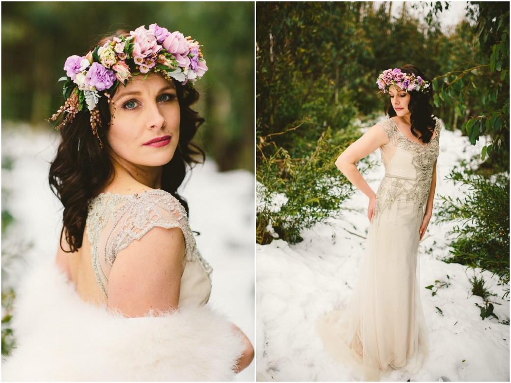 hotography Gwendolynne gowns bridal shoot snow Melbourne wedding photographer styled shoot04