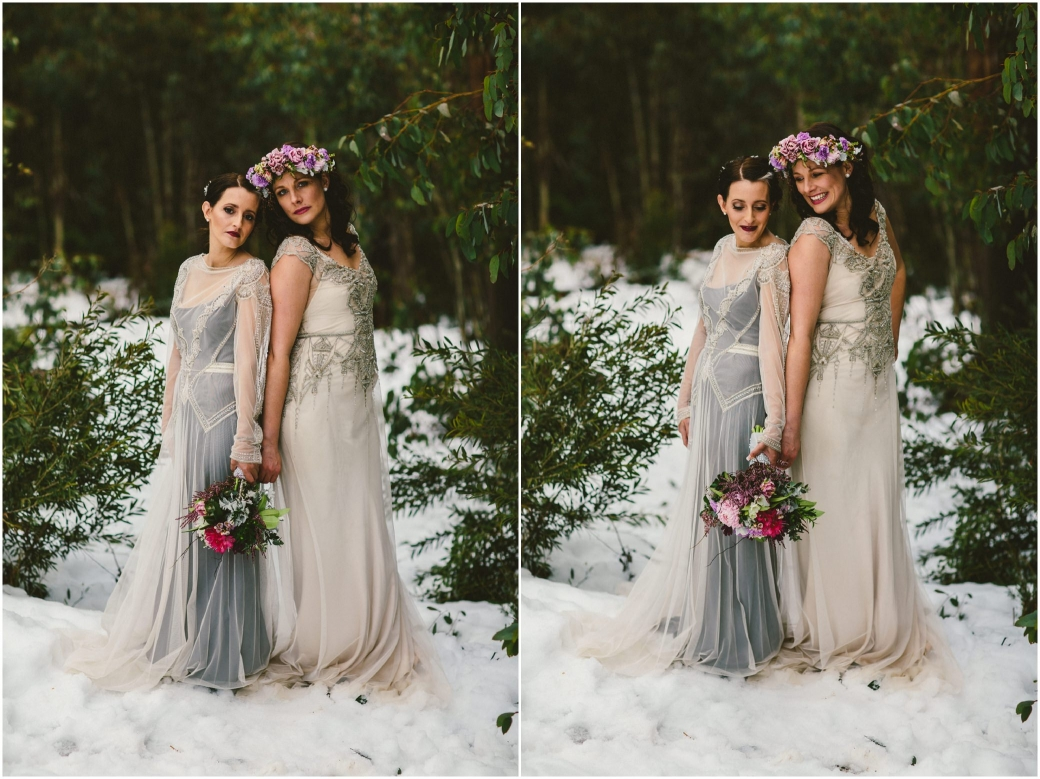 hotography Gwendolynne gowns bridal shoot snow Melbourne wedding photographer styled shoot06