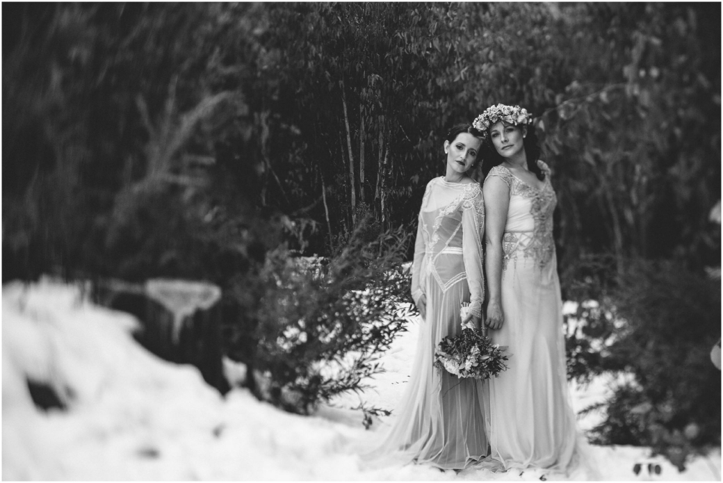 hotography Gwendolynne gowns bridal shoot snow Melbourne wedding photographer styled shoot07