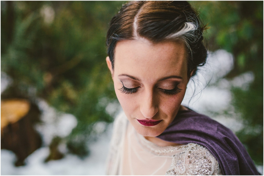 hotography Gwendolynne gowns bridal shoot snow Melbourne wedding photographer styled shoot12
