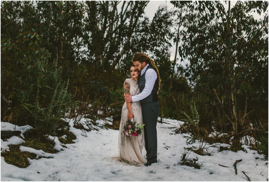 hotography Gwendolynne gowns bridal shoot snow Melbourne wedding photographer styled shoot13