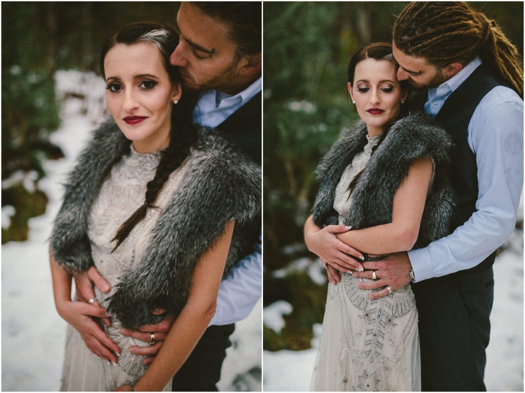 hotography Gwendolynne gowns bridal shoot snow Melbourne wedding photographer styled shoot14
