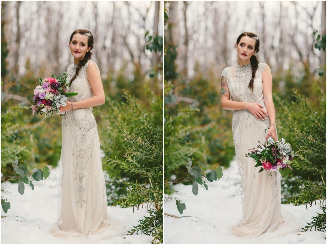 hotography Gwendolynne gowns bridal shoot snow Melbourne wedding photographer styled shoot16