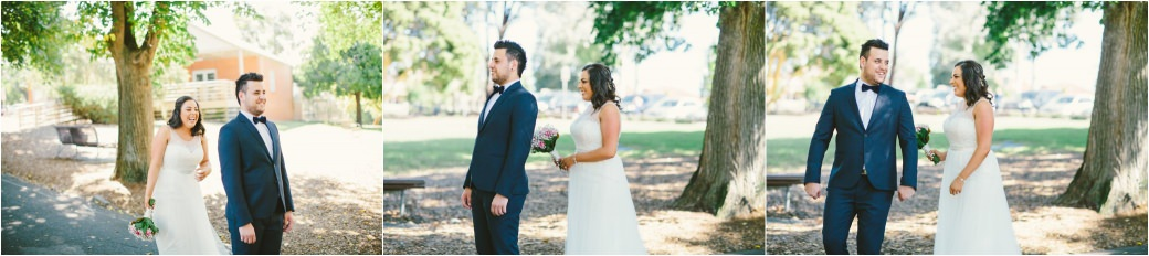 wedding photography Post office hotel Coburg lake first look alleyway Melbourne 16