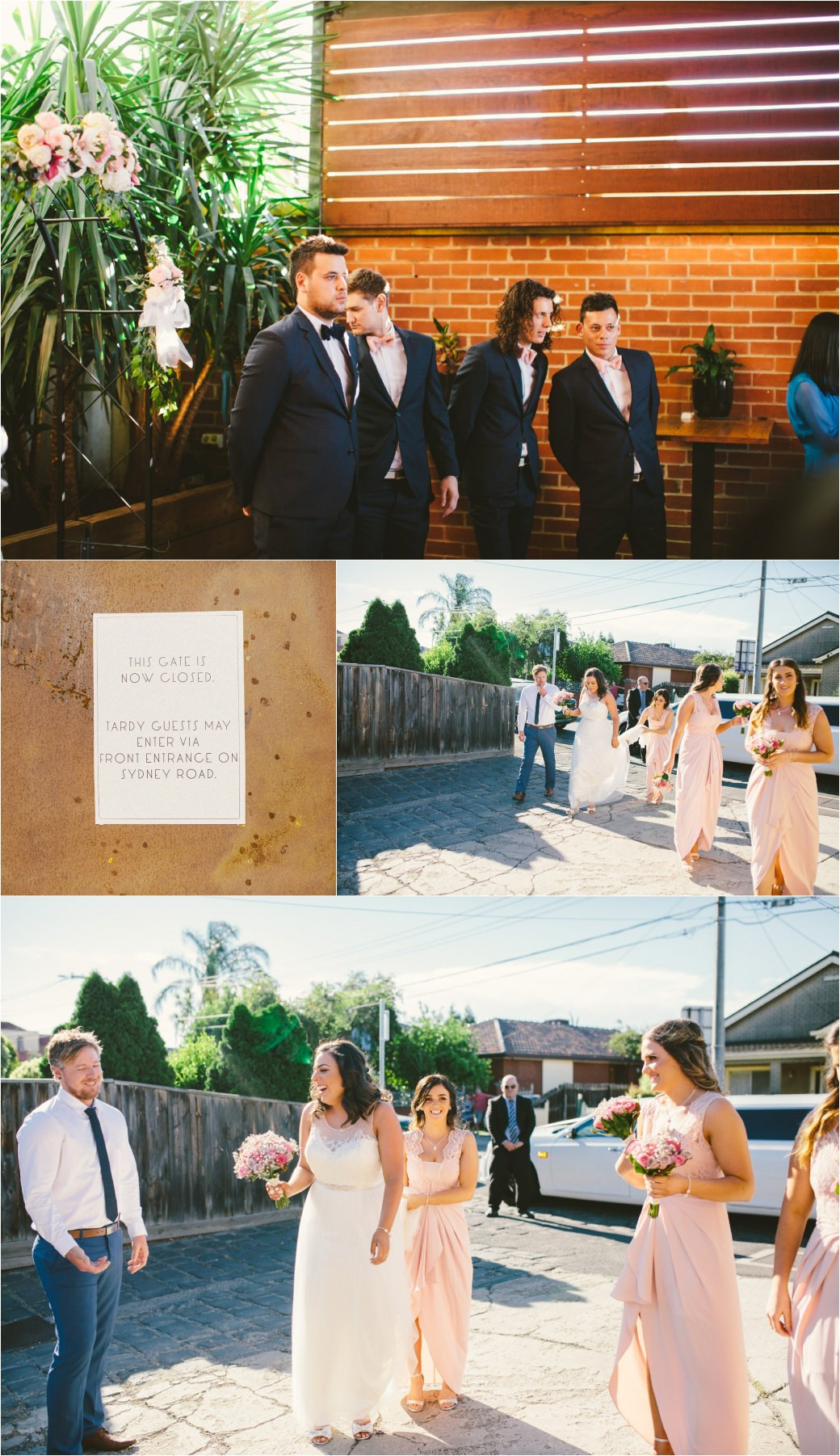 wedding photography Post office hotel Coburg lake first look alleyway Melbourne 35