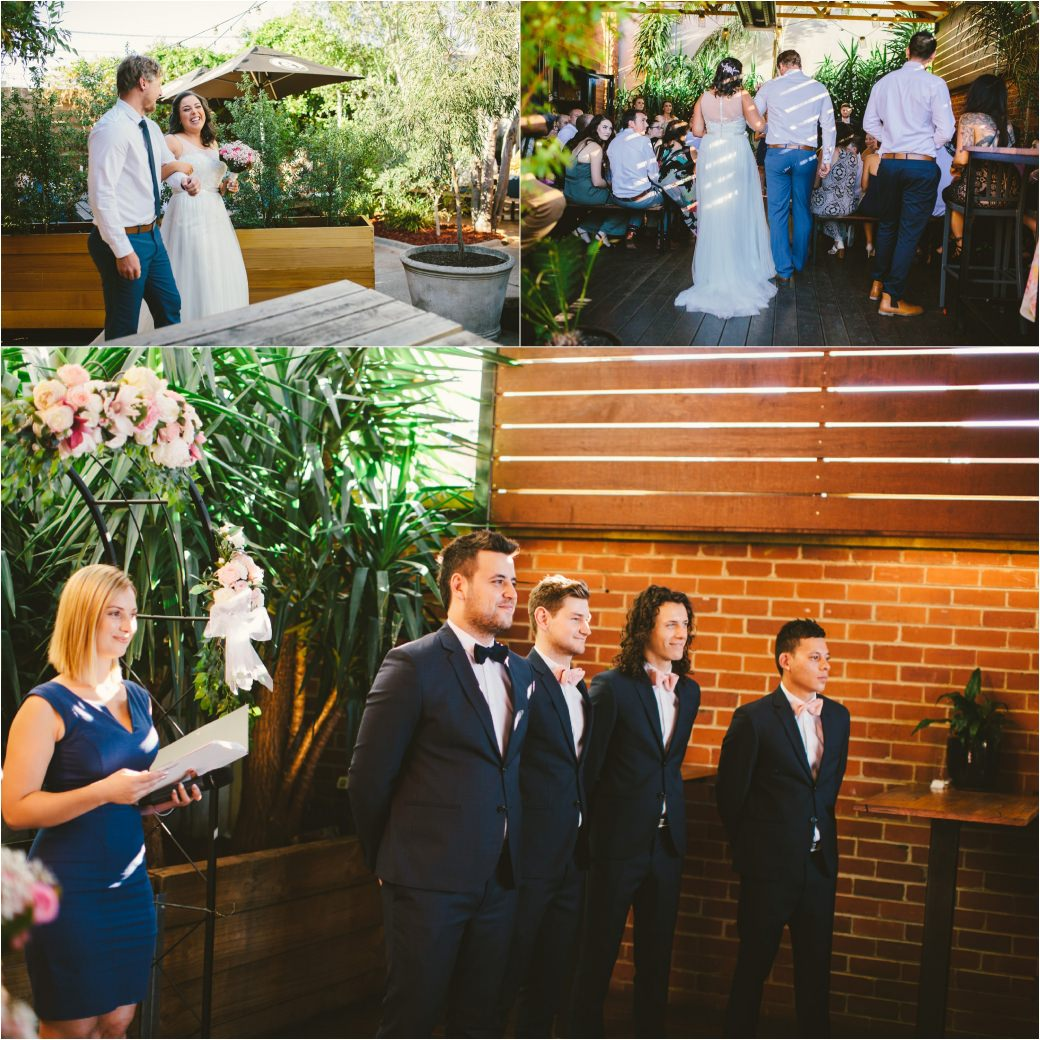 wedding photography Post office hotel Coburg lake first look alleyway Melbourne 37
