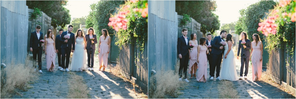 wedding photography Post office hotel Coburg lake first look alleyway Melbourne 44